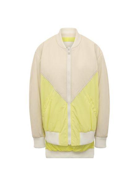 Кожаная куртка из полиэстера - желтая Army Yves Salomon