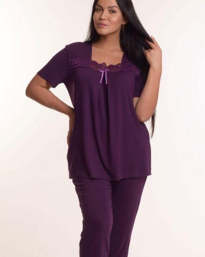 Пижамная фиолетовая пижама из вискозы инсантрик