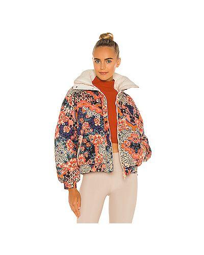 Домашняя персиковая нейлоновая дутая куртка на молнии Free People