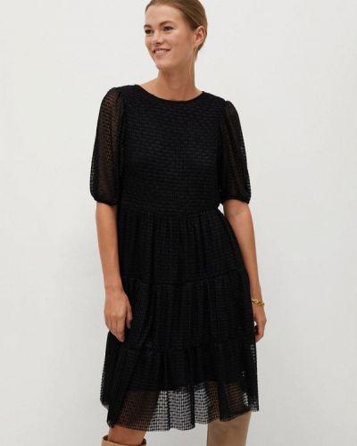 Прямое черное платье Mango