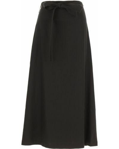 Czarna spódnica z paskiem z jedwabiu Vivetta