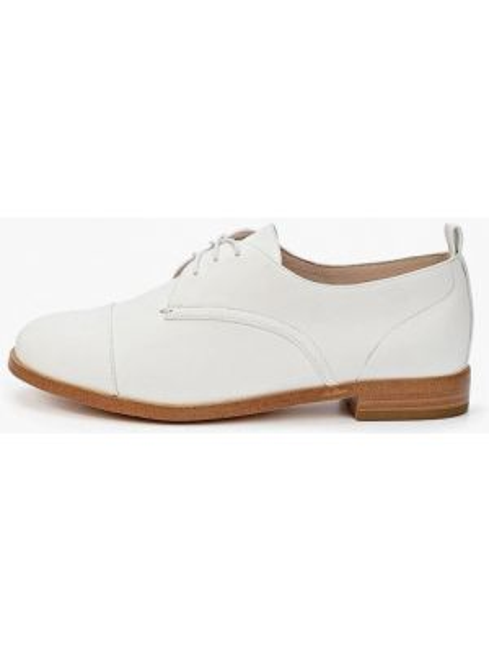 Белые кожаные оксфорды Thomas Munz