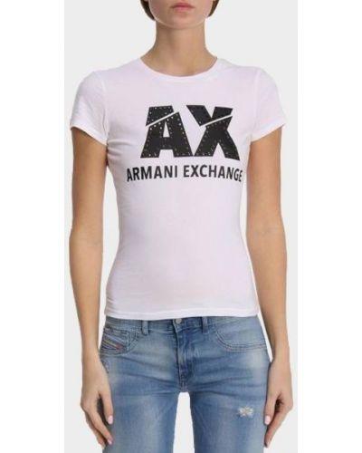 Повседневная футболка - белая Armani Exchange