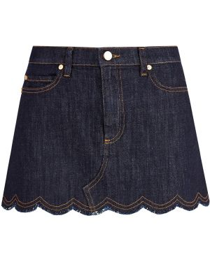 Юбка мини джинсовая с карманами Redvalentino