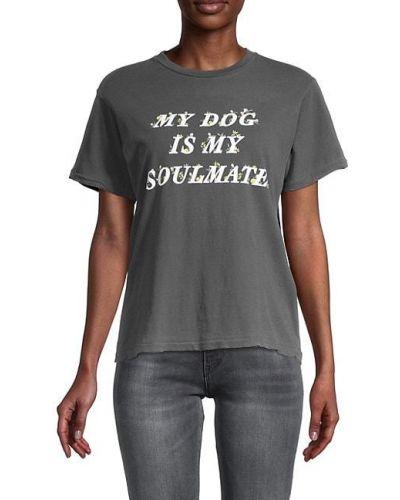 Ватная хлопковая футболка с короткими рукавами Wildfox