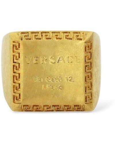Złoty pierścionek vintage Versace