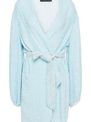 Niebieska sukienka kopertowa Retrofete