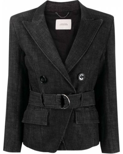 С рукавами синяя джинсовая куртка свободного кроя с поясом Dorothee Schumacher