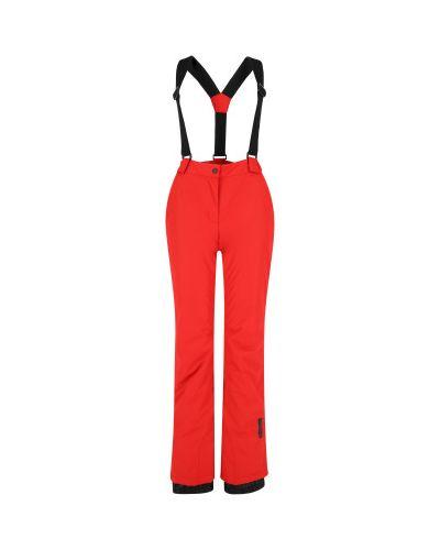 Красные утепленные брюки на бретелях Glissade