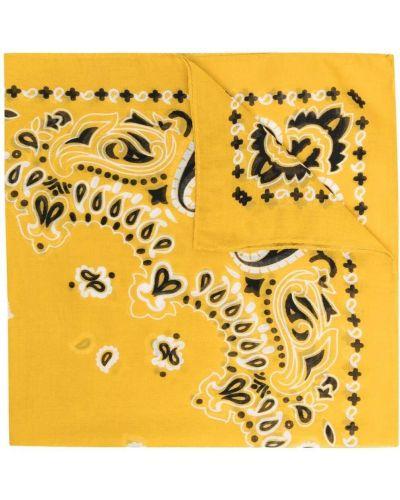 Прямой хлопковый желтый шарф Destin