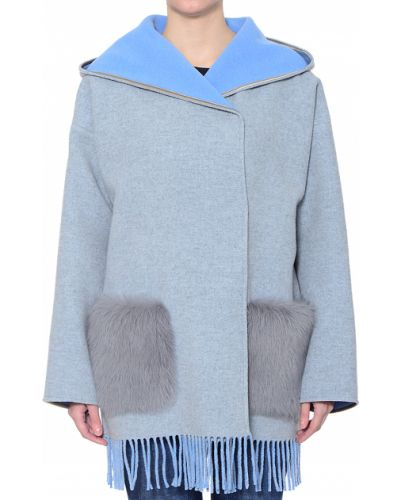 Шерстяное пальто с капюшоном Bogner