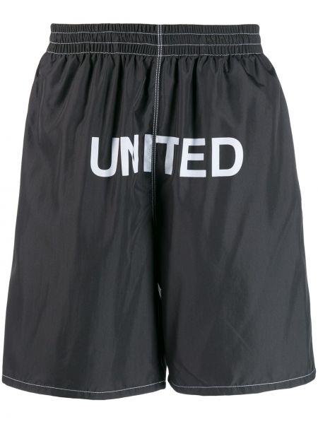 Черные шорты с поясом United Standard