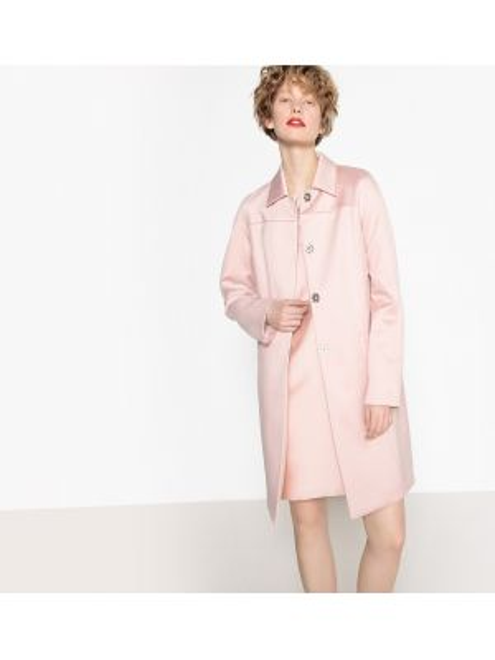 Пальто на кнопках с воротником La Redoute Collections