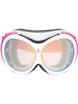 Муслиновые солнцезащитные очки круглые хаки Moncler Eyewear