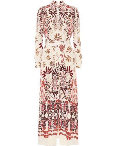 Шелковое платье миди Loro Piana