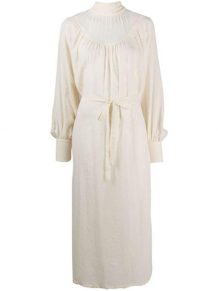 Шерстяное платье макси - белое Ann Demeulemeester