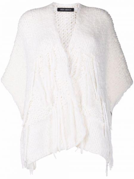 Шерстяной белый кардиган крупной вязки Iris Von Arnim
