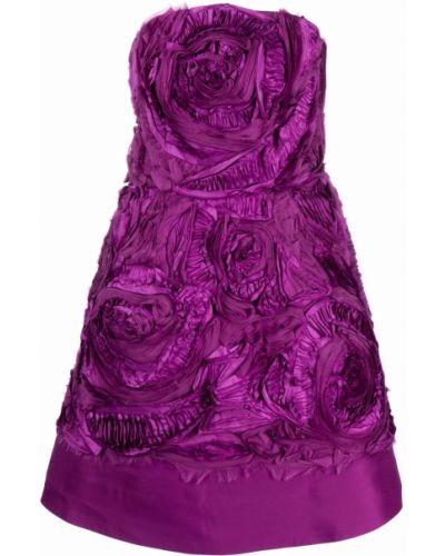 Расклешенное платье - фиолетовое Oscar De La Renta