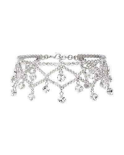Choker srebrny z kryształkami Alessandra Rich