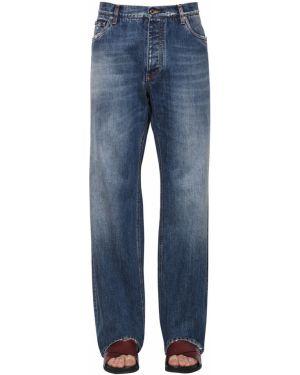 Широкие джинсы с карманами на пуговицах Dolce & Gabbana