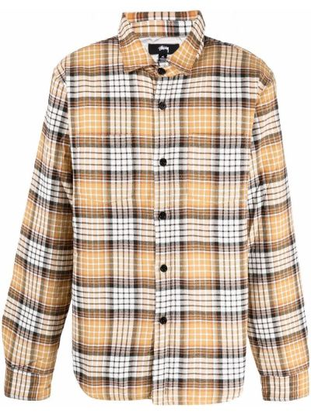 Рубашка в клетку - желтая Stussy