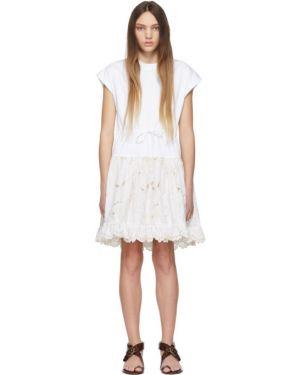 Платье с вышивкой вязаное See By Chloe