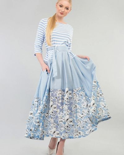 Платье - голубое Maxa
