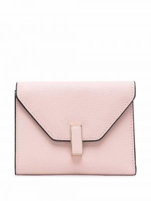 Różowy portfel skórzany Valextra