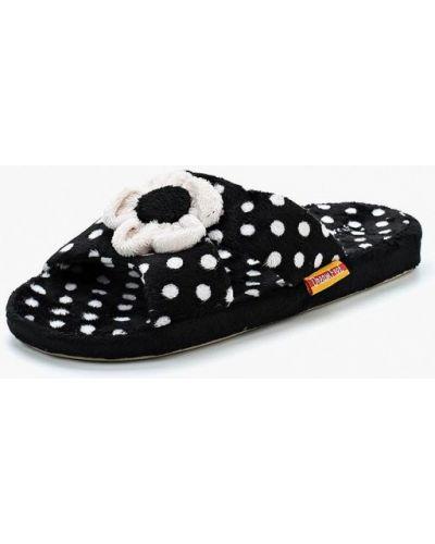 Черные домашние тапочки Dream Feet