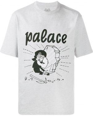 Лаковая рубашка с короткими рукавами золотая Palace