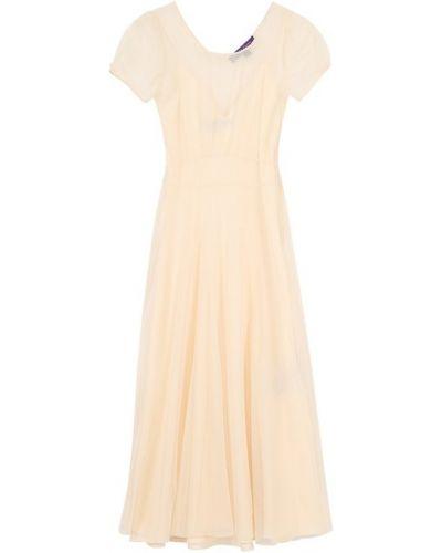 Платье миди облегающее шелковое Ralph Lauren