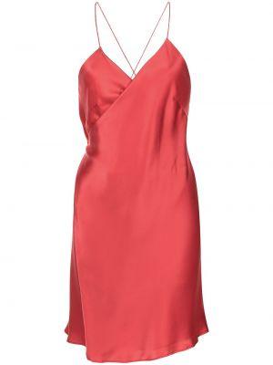 Шелковое платье мини - красное Michelle Mason
