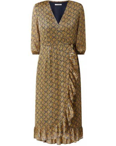 Żółta sukienka rozkloszowana z szyfonu Freebird