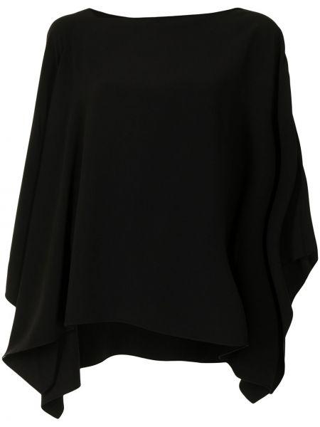 Czarna bluzka z długimi rękawami Ralph Lauren Collection