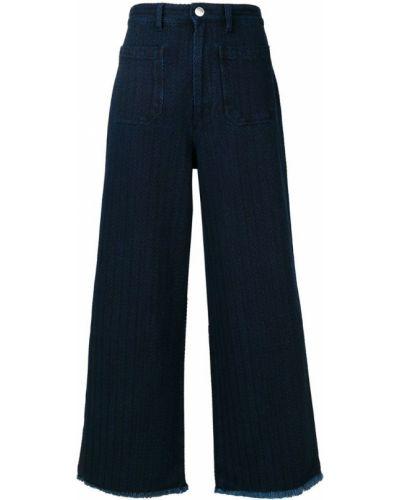 Широкие джинсы на пуговицах с карманами Masscob