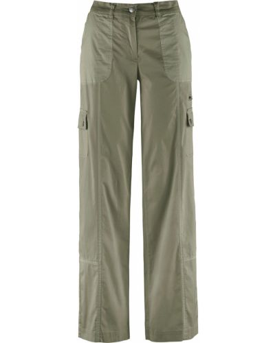 Свободные брюки оливковый зеленый Bonprix