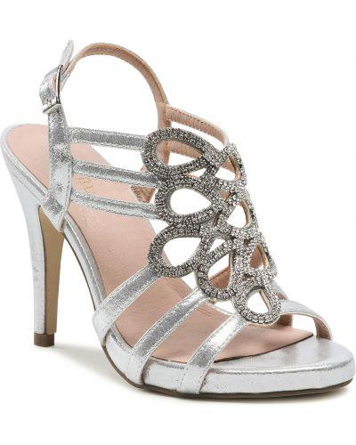 Sandały srebrne Menbur