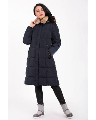 Пальто с капюшоном - синее Camel Active