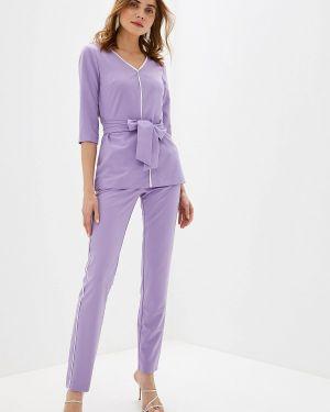 Брючный костюм фиолетовый Bezko
