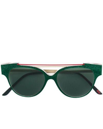Солнцезащитные очки зеленый хаки La Petite Lunette Rouge