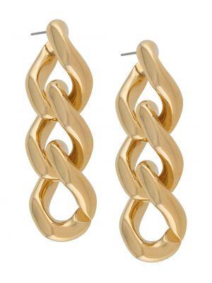 Золотистые серьги золотые на кнопках Simon Miller