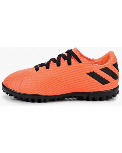 Кожаные красные бутсы Adidas