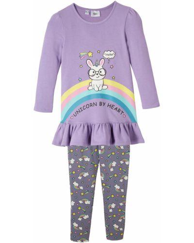 Фиолетовая футболка с длинными рукавами Bonprix