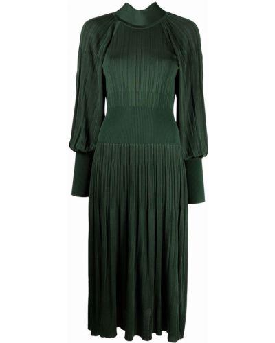 Приталенное платье миди - зеленое Zimmermann