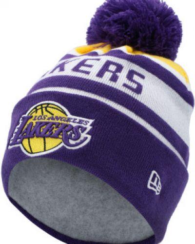 Теплая шапка - фиолетовая New Era