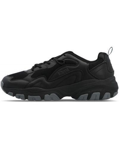 Черные кожаные кроссовки классические Kappa