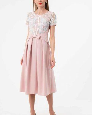 Вечернее платье летнее розовое Wisell