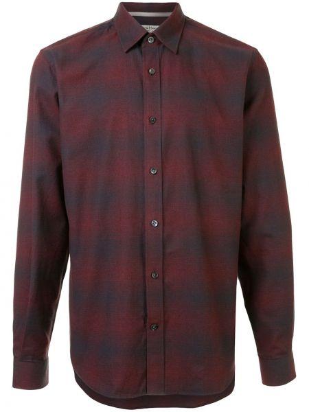 Czerwona koszula bawełniana z długimi rękawami Gieves & Hawkes