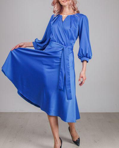 Расклешенное приталенное платье с V-образным вырезом на молнии Lila Classic Style