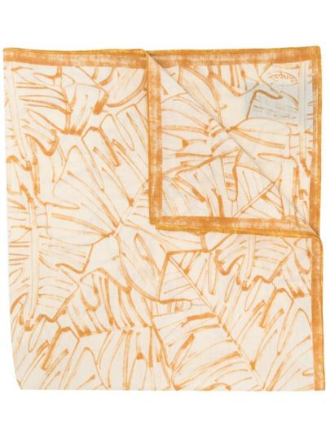 Белый шелковый шарф квадратный Ermenegildo Zegna